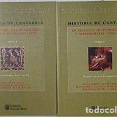 Libros de segunda mano: 2 TOMOS. HISTORIA DE CANTABRIA: UN SIGLO DE HISTORIOGRAFIA Y BIBLIOGRAFIA (1900-1994) MANUEL SUAREZ. Lote 236222960