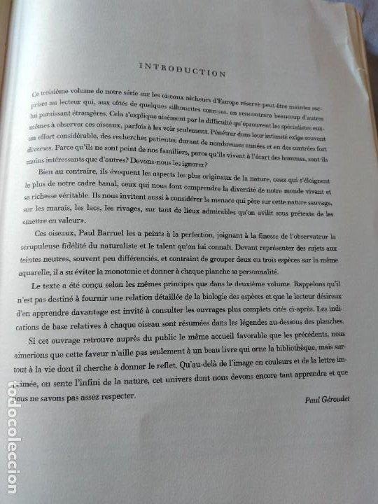 Libros de segunda mano: Las aves reproductoras de Europa(Volumen 3). les oiseau nicheurs d´europe,paul géroudet,1967,frances - Foto 5 - 236298945