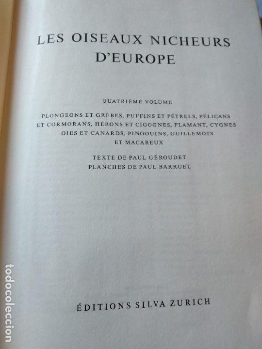 Libros de segunda mano: Las aves reproductoras de Europa(Volumen 4). les oiseau nicheurs d´europe,paul géroudet,1962,frances - Foto 3 - 236299050