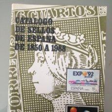 Libros de segunda mano: CATÁLOGO DE SELLOS DE ESPAÑA DE 1850 A 1988 FILABO 9ª EDICIÓN. Lote 236127650