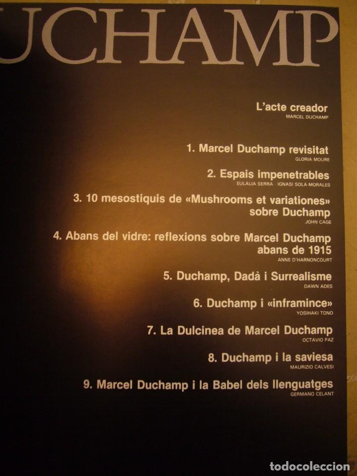 Libros de segunda mano: CATÀLEG/ CATÁLOGO EXPOSICIÓN DUCHAMP FUNDACIÓ JOAN MIRÓ 1984. TEXTO CATALÁN/ INGLÉS. - Foto 4 - 236395800