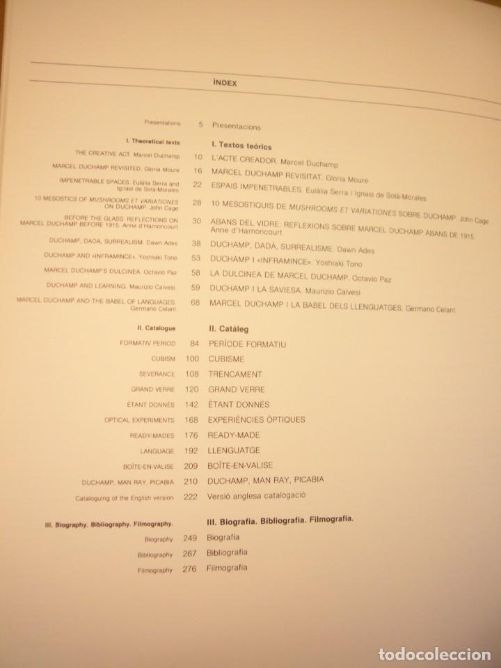 Libros de segunda mano: CATÀLEG/ CATÁLOGO EXPOSICIÓN DUCHAMP FUNDACIÓ JOAN MIRÓ 1984. TEXTO CATALÁN/ INGLÉS. - Foto 5 - 236395800