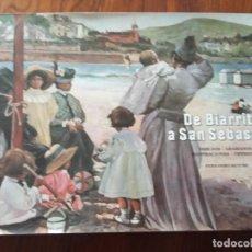 Libros de segunda mano: DE BIARRITZ A SAN SEBASTIAN :DIBUJOS GRABADOS ILUSTRACIONES OPINIONES-FERNANDO ALTUBE.. Lote 236622420