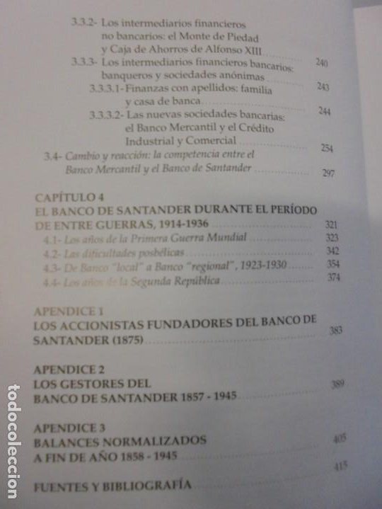 Libros de segunda mano: TESTIGO DE UNA EPOCA. EL BANCO DE SANTANDER EN LA ECONOMIA DE CANTABRIA. 1857-1945. A.GUTIERREZ 2006 - Foto 9 - 236631315
