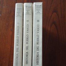 Libros de segunda mano: HISTORIA DEL PUEBLO VASCO. TOMO I, II Y III.-FEDERICO DE ZABALA.. Lote 236633220