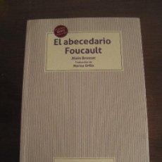 Libros de segunda mano: ALAIN BROSSAT - EL ABECEDARIO FOUCAULT. TIRANT LO BLANCH 2020. Lote 236637045