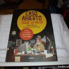 Libros de segunda mano: CASO ABIERTO. ¡SIGUE LA PISTA! - ÀNGELS NAVARRO / ILUSTRACIONES JORDI SUNYER - COMBEL - 1.ª EDICION. Lote 236651305