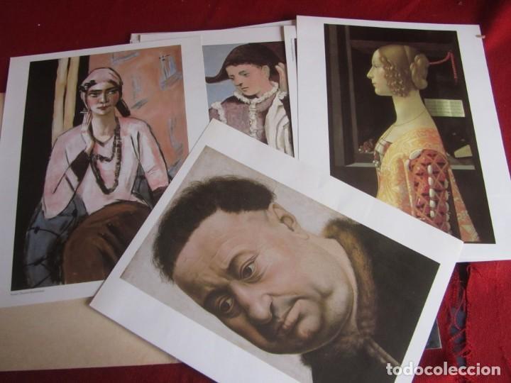 Libros de segunda mano: COLECCIÓN DE LÁMINAS DEL MUSEO THYSSEN-BORNEMISZA. COMPLETO 21 LÁMINAS. - Foto 2 - 236786565