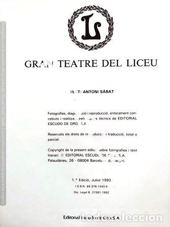 Libros de segunda mano: LIBRO GRAN TEATRO DEL LICEU - Foto 2 - 236787950
