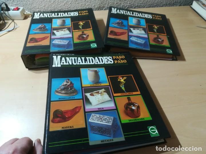 MANUALIDADES PASO A PASO / 3 FICHEROS - GRANADA / MANUALIDADES BRICOLAGE HOGAR / M507 (Libros de Segunda Mano - Bellas artes, ocio y coleccionismo - Otros)