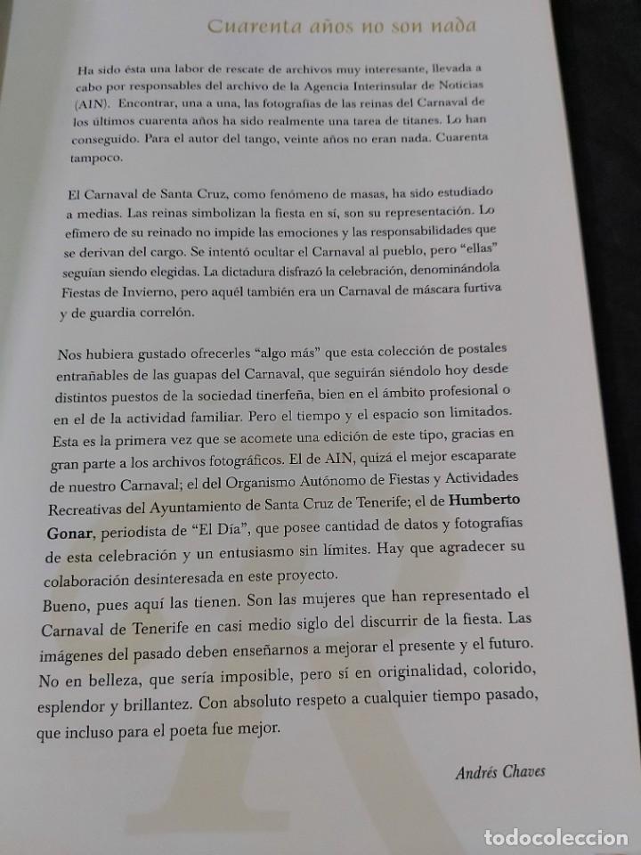 Libros de segunda mano: Cuarenta años no son nada. Fotos de las reinas del carnaval de Tenerife - Foto 3 - 236793540