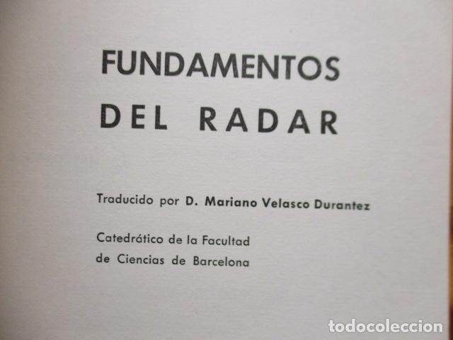 Libros de segunda mano: FUNDAMENTOS DEL RADAR. P. DELACOUDRE. MARCOMBO EDICIONES TECNICAS - Foto 5 - 236849210