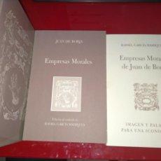 Libros de segunda mano: EMPRESAS MORALES DE JUAN DE BORJA --- 2 LIBROS ACOMPAÑADOS DE SU ESTUCHE --- PERFECTO ESTADO. Lote 237010865