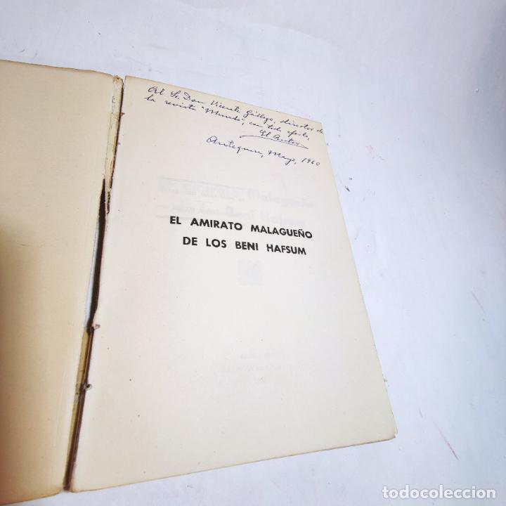 Libros de segunda mano: El amirato Malagueño de los Beni Hafsum. Fermín Requena. Antequera. Gráficas San Rafael. 1959. - Foto 2 - 237065810