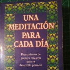 Libros de segunda mano: UNA MEDITACIÓN PARA CADA DÍA. Lote 237167040