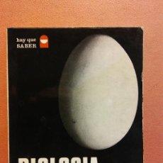 Libri di seconda mano: BIOLOGÍA, HOY. C.H. WADDINGTON. EDITORIAL TEIDE. Lote 237290645