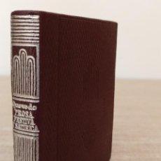 Libros de segunda mano: PROSA FESTIVA Y SATÍRICA. QUEVEDO. AGUILAR, COLECCIÓN CRISOL. LIBRO EN MINIATURA. Lote 237328895
