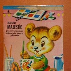Livres d'occasion: BLOC MAJESTIC Nº 3. PASATIEMPOS Y DIBUJOS PARA PINTAR. EDITORIAL ROMA. Lote 237441970