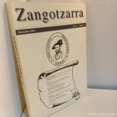 Libros de segunda mano: ZANGOTZARRA, AÑO V. NUM. 5. DICIEMBRE 2001, HISTORIA / HISTORY,. Lote 237908400