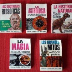 Libros de segunda mano: COLECCIÓN 25000 PALABRAS (BRUGUERA): LOTE 5 TITULOS. Lote 238105040