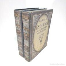 Libros de segunda mano: ESQUEMA DE LA HISTORIA UNIVERSAL. H. G. WELLS. 2 TOMOS. EDICIONES ANACONDA. B. AIRES. 1946.. Lote 238564475