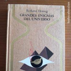Libros de segunda mano: GRANDES ENIGMAS DEL UNIVERSO -HENNING ! -ENVÍO CERTIF 6,99- -COLECCIÓN OTROS MUNDOS, PLAZA & JANES. Lote 238520085