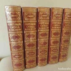 Livres d'occasion: NUEVOS AUN PRECINTADOS COSTUMARI CATALÀ EL CURS DE L'ANY JOAN AMADES EDICION DE 1987 CATALUNYA. Lote 239768610