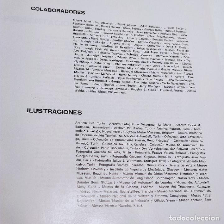 Libros de segunda mano: Enciclopedia histórica del automovilismo mundial. Auto mundo. Pinifarina. 6 tomos. Codex. 1969. - Foto 7 - 239847525