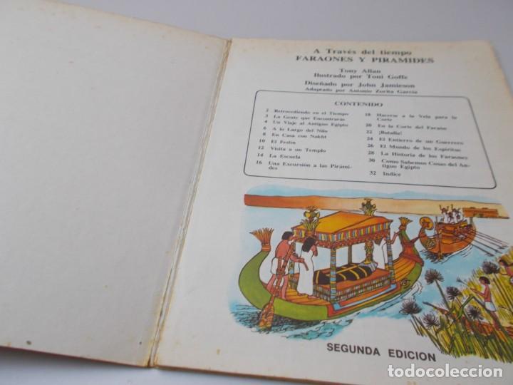 Libros de segunda mano: A TRAVÉS DEL TIEMPO Faraones y Pirámides - Foto 2 - 240150490