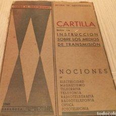 Libros de segunda mano: INSTRUCCIÓN SOBRE LOS MEDIOS DE TRANSMISIÓN - ZARAGOZA 1941. Lote 240505355