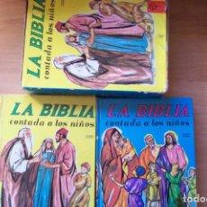 Libros de segunda mano: LA BIBLIA CONTADA A LOS NIÑOS. DOS TOMOS -EDICIONES PAULINAS 1979. BIBLIA INFANTIL. Lote 240745315