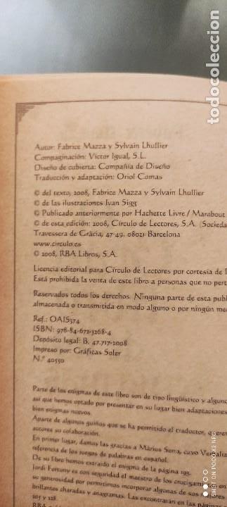 Libros de segunda mano: EL GRAN LIBRO DE LOS ENIGMAS (ROMPECABEZAS Y JUEGOS DE LÓGICA). FABRICE MAZZA - Foto 3 - 241277620