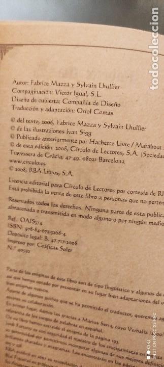 Libros de segunda mano: EL GRAN LIBRO DE LOS ENIGMAS (ROMPECABEZAS Y JUEGOS DE LÓGICA). FABRICE MAZZA - Foto 4 - 241277620