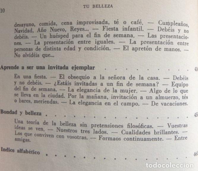 Libros de segunda mano: TU BELLEZA - ENCICLOPEDIA DE ATRACTIVO Y PERSONALIDAD LIBRO ANITA COLBY CONSEJOS GUÍA MODA SALUD ETC - Foto 6 - 241544220