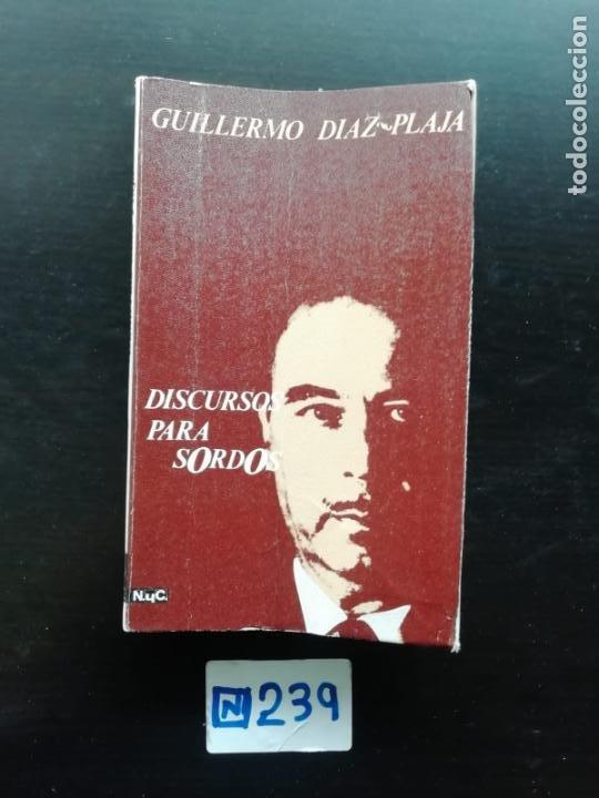 DISCURSO PARA SORDOS (Libros de Segunda Mano (posteriores a 1936) - Literatura - Otros)