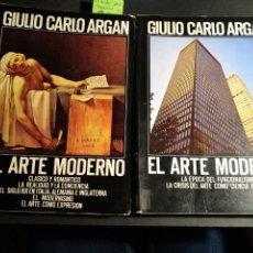 Libros de segunda mano: EL ARTE MODERNO (TOMO 1 Y 2) - GIULIO CARLO ARGAN. Lote 242344520