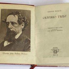 Libros de segunda mano: AÑO 1946 - OLIVERIO TWIST POR CHARLES DICKENS - AGUILAR COLECCIÓN CRISOL Nº 180. Lote 242362945