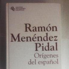 Libros de segunda mano: ORÍGENES DEL ESPAÑOL.- RAMÓN MENÉNDEZ PIDAL.- PLANETA&AGOSTINI.. Lote 242429980