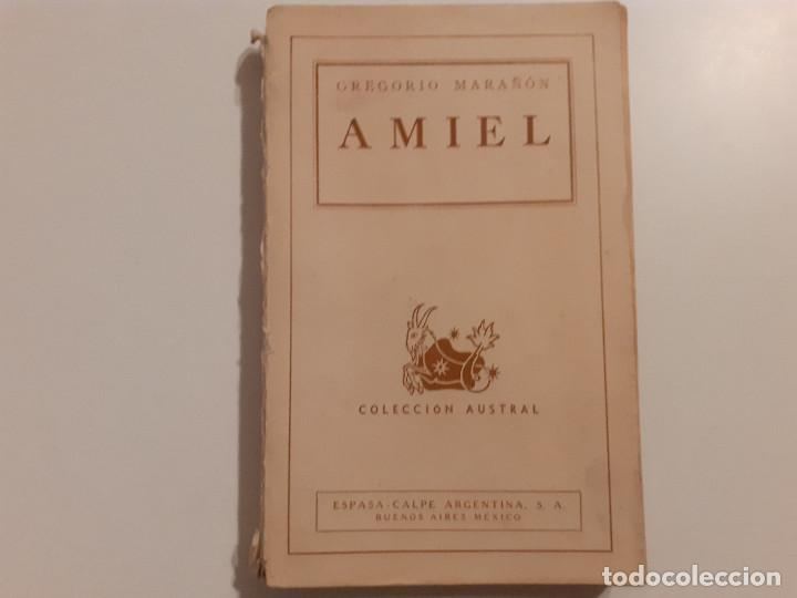 AMIEL ESTUDIO SOBRE LA TIMIDEZ - MARAÑÓN - 1944 (Libros de Segunda Mano - Ciencias, Manuales y Oficios - Otros)