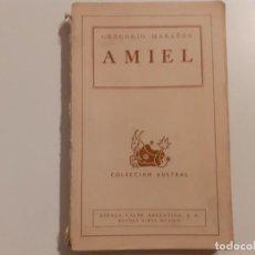 Libros de segunda mano: AMIEL ESTUDIO SOBRE LA TIMIDEZ - MARAÑÓN - 1944. Lote 242464025