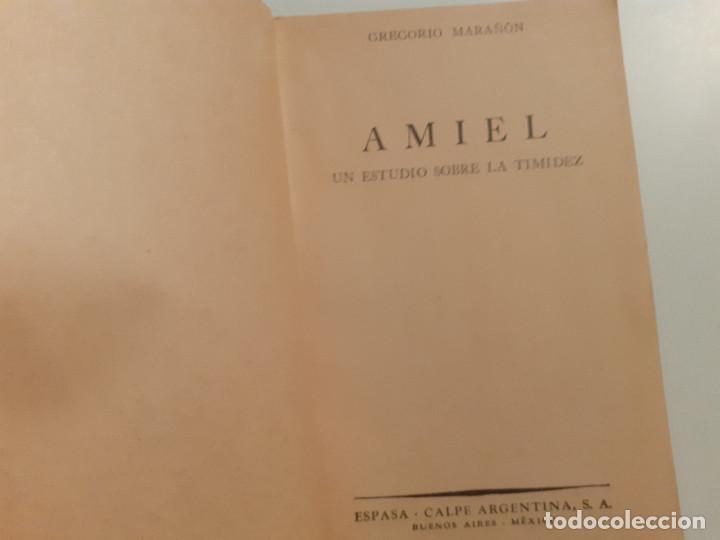 Libros de segunda mano: AMIEL ESTUDIO SOBRE LA TIMIDEZ - MARAÑÓN - 1944 - Foto 4 - 242464025