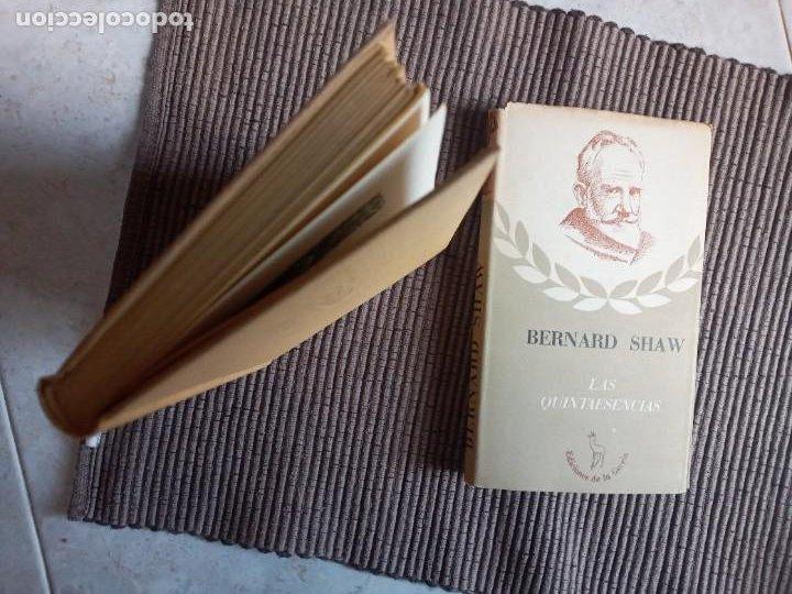 Libros de segunda mano: LAS QUINTAESENCIAS. BERARD SHAW. LA GACELA 1942. - Foto 8 - 242956265