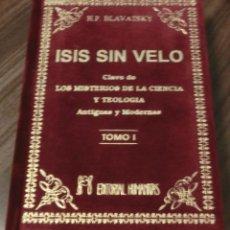 Livros em segunda mão: ISIS SIN VELO.CLAVE DE LOS MISTERIOS DE LA CIENCIA Y TEOLOGIA ANTIGUAS Y MODERNAS.TOMO I (IMPECABLE). Lote 243126690