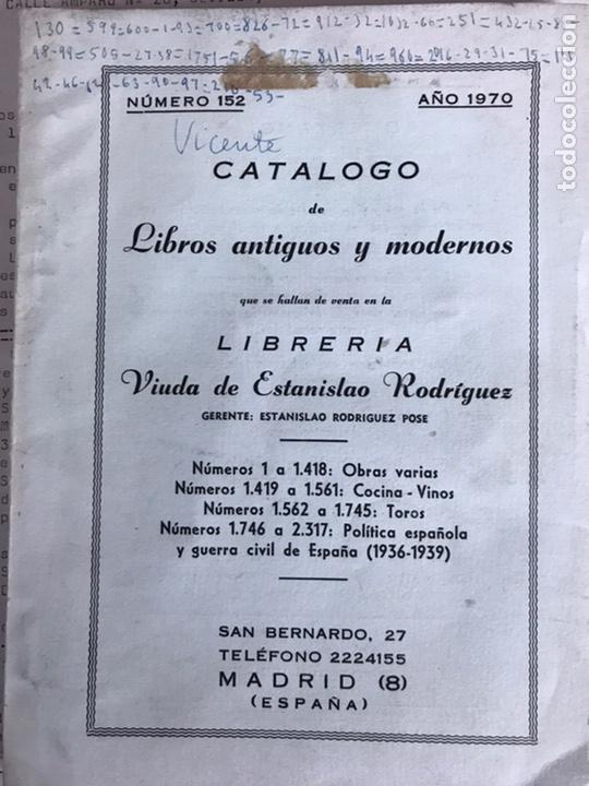 CATÁLOGO DE LIBROS ANTIGUOS Y MODERNOS (Libros de Segunda Mano - Bellas artes, ocio y coleccionismo - Otros)