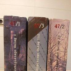 Livres d'occasion: ARCHIPIÉLAGO GULAG ALEXANDR SOLZHENITSYN. 3 VOLÚMENES. TUSQUETS. Lote 243219815