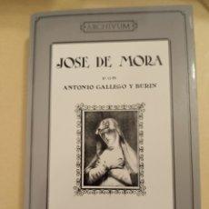 Libros de segunda mano: JOSE DE MORA ANTONIO GALLEGO Y BURIN 1988. Lote 243248970