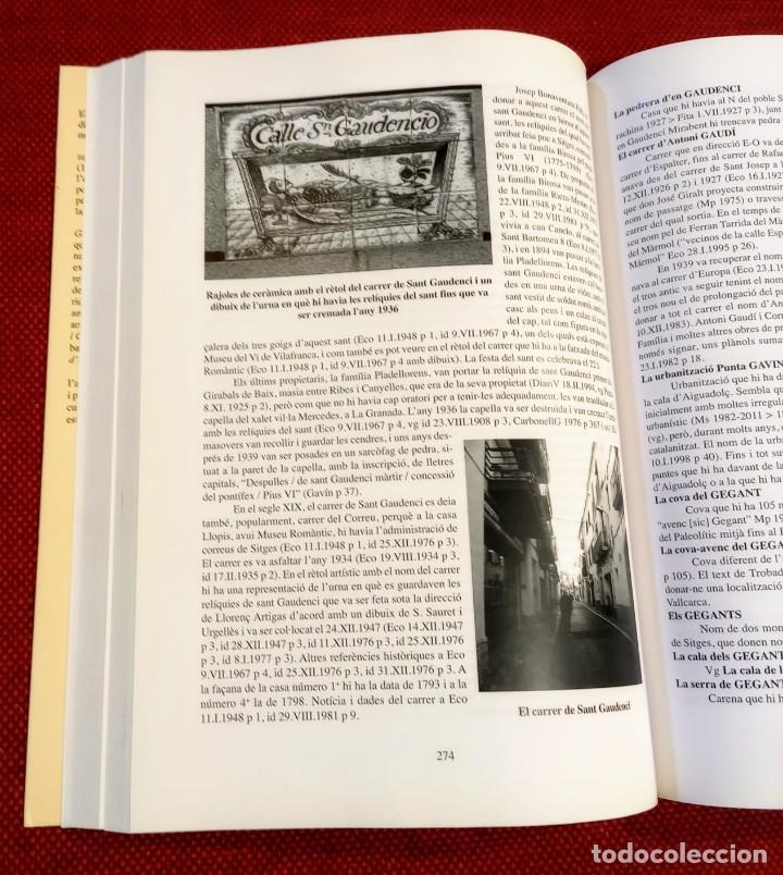 Libros de segunda mano: EL TERME DE SITGES I LA SEVA RODALIA - ELS SEUS NOMS DE LLOC - IGNASI Mª MUNTANER - DEDICADO - Foto 4 - 243440470