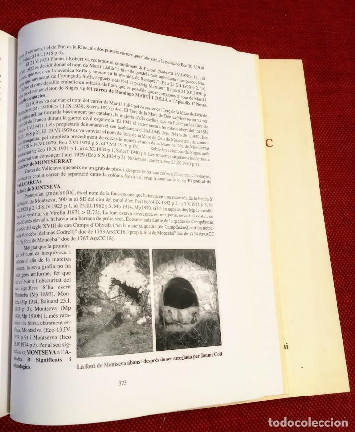 Libros de segunda mano: EL TERME DE SITGES I LA SEVA RODALIA - ELS SEUS NOMS DE LLOC - IGNASI Mª MUNTANER - DEDICADO - Foto 5 - 243440470