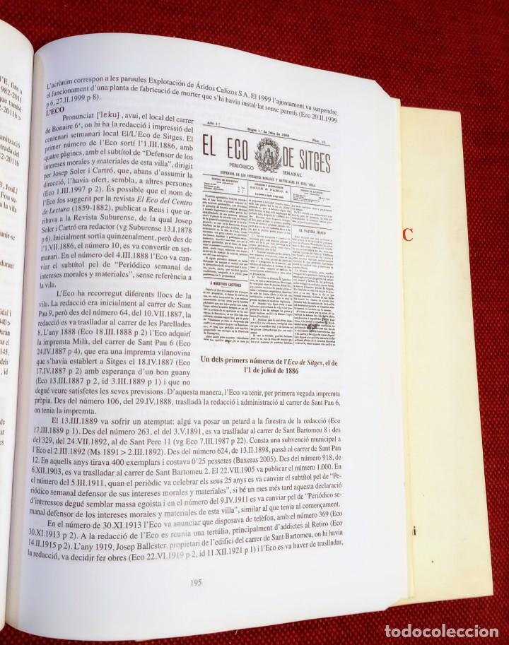 Libros de segunda mano: EL TERME DE SITGES I LA SEVA RODALIA - ELS SEUS NOMS DE LLOC - IGNASI Mª MUNTANER - DEDICADO - Foto 6 - 243440470