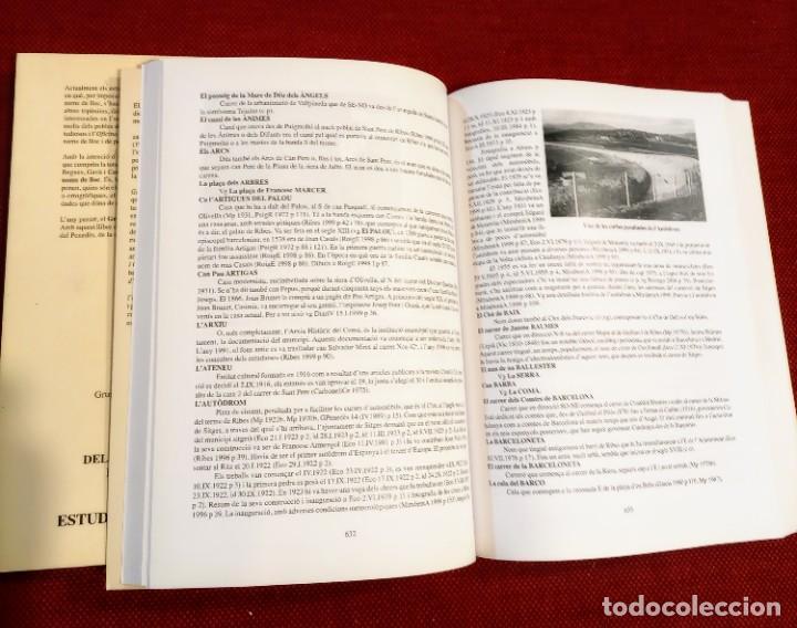 Libros de segunda mano: EL TERME DE SITGES I LA SEVA RODALIA - ELS SEUS NOMS DE LLOC - IGNASI Mª MUNTANER - DEDICADO - Foto 9 - 243440470